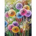 """Full Round Drill 5D DIY Diamond Painting""""Colored dandelion"""" Embroidery Cross Stitch 5D Home Decor Gift 12X16in"""