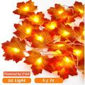 2M LED Maple Leaf String Lights with 10 LED, Battery Operated, Indoor Outdoor Fairy Lights, Fall Garland String Lights Decorative Lights for Home Patio Party Thanksgiving Christmas