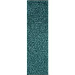 Commercial Indoor/Outdoor Teal Custom Size Runner 4' x 16' - Area Rug with Rubber Marine Backing for Patio, Porch, Deck, Boat, Basement or Garage with Premium Bound Polyester Edges