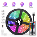 5M LED Strips, AGPTEK 5050 RGB LED Lights Remote Control LED Strip with 44 Buttons, 20 Colors 8 Brightness Modes and 6 DIY Options for Living Room, Dining Room, Kitchen, Christmas, Halloween, Party
