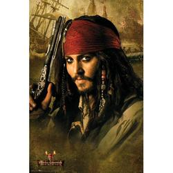 Disney Pirates of the Caribbean: Dead Man's Chest - Johnny Depp Premium Poster and Poster Mount Bundle