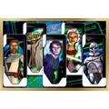 """Trends International Star Wars: The Clone Wars - Close Ups Wall Poster 24.25"""" x 35.75"""" x .75"""" Gold Framed Version"""