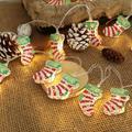 CUTELOVE 3m 20 LED Lights Christmas Stockings Decorative Lights Battery Box Light Strings Christmas Light Strings