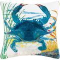 C&F Home Blue Crab Coastal Premium Indoor/Outdoor Decorative Accent Throw Pillow 18 x 18 Blue Crab, UNIQUE DESIGN: Coastal themed Indoor/Outdoor throw.., By Visit the CF Home Store