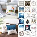 """CVLIFE Indoor/Outdoor Christmas Modern Square Polyester Throw Pillow Covers, 17.72"""" x 17.72"""", 2 -Pieces"""
