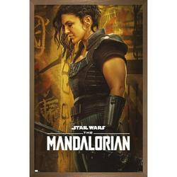 "Trends International Star Wars: The Mandalorian Season 2 - Cara Dune Wall Poster 16.5"" x 24.25"" x .75"" Bronze Framed Version"