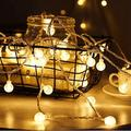 Merdeco Plug In String Lights, 16Ft 50 Led Globe String Lights Indoor Outdoor Decorative Fairy Lights Warm White For Birthday Party Wedding Anniversary Christmas