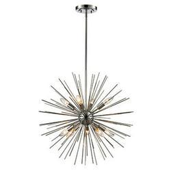 "Trans Globe Lighting Mdn-1452 Collina 9 Light 24"" Wide Taper Candle Globe Chandelier -"