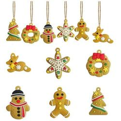 Gingerbread Christmas Ornaments Gingerbread Man Hanging Christmas Tree Ornaments for Holiday Kitchen Decor Christmas Tree Hanging Decorations Holiday Party Decor B