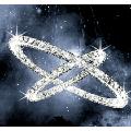 Crystal chandeliers 3 rings 20+30+40cm white light wide pressure