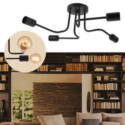 Gupbes 110-240V 4XE27 Retro Style LED Pendant Light Antique Lamp Fixture for Study Cafe Bar Hallway,Pendant Lamp, Pendant Light Lamp