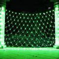 LED Net Lights Mesh Lights, Tree Warp Fairy Lights Outdoor Hanging String Light for Christmas, Halloween, Garden, Walkway, Bushes Decor-9.8ft x 6.6ft(Green)