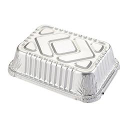 TOP.H Tin Carton Barbecue Rectangular Aluminum Foil Box Lunch Box Tin Foil Bowl Disposable Takeaway Packed Lunch Box Container