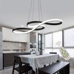 Modern Chandelier Lighting LED Dining Room Dimmable Pendant Light, Height Adjustable Hanging Lamp, Creative Design Chandelier Lighting for Kitchen Island
