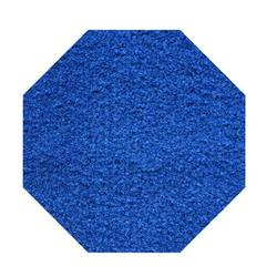 Commercial Indoor/Outdoor Area Rug with Rubber Marine Backing for Patio, Porch, Deck, Boat, Basement or Garage with Premium Bound Polyester Edges Blue Color 7' Octagon