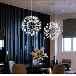 Chandelier Ceiling Pendant Light Shade Chandeliers Creative Personality LED Spark Ball Chandelier, European Simple Style Stainless Steel Chandelier, Living Room Dining Room Hallway Bedroom Balcony Cha