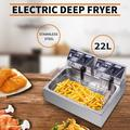 ZOKOP Eh83O 110V Electric Deep Fryer w/Basket, Countertop Kitchen Frying Machine, for Turkey, French Fries, Donuts and More