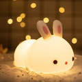 LNGOOR Kids Cute Bunny Night Light ,Baby Easter Gifts Women Teenage Girls Boy Birthday Kawaii Lamp Toddler -LED Nightlight Children Decor Decorations