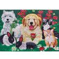 Winnereco 5D DIY Special Shaped Diamond Painting Cats Dogs Cross Stitch Embroidery