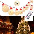 Tomshine 40 LED LED String Lights Christmas Led LED String Lights Remote Controller 8 Light Mode Xmas Decor for Indoor Outdoor Party Christmas Tree Warm White Light