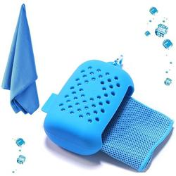 Cooling Towel, Cooling Towel Cooling Towel, Microfiber Towels Quick-drying Sports Towel Beach Towel Travel Towel for Fitness Gym Yoga and Outdoor Sports Sky Blue