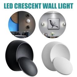 Wall Lights Sconce Light Bracket Light Simple and Creative Modern Bedside Lamp/Bedroom Living Room Light Wall Lamp/Led Round Crescent Wall Light Lighting Decoration Wall Lamps,Warm White