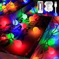 Globe String Lights for Bedroom Battery - 33ft 100 Led String Lights with Remote Controller,Battery Operated String Lights,Decorative Lights for Party/Wedding Outdoor/Indoor Garden,Christmas Ligh