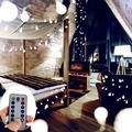 LED String Lights, 33ft 100 LED Battery Powered String Lights, 8 Modes with Remote, Waterproof Globe Starry Fairy String Lights for Bedroom, Garden, Christmas Tree, Wedding, Party(White)-1PACK