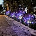 ZDMATHE Solar Lawn String Lights Plug Dandelion Firework Copper Wire Strip Light Outdoor Waterproof Christmas Decoration Lights