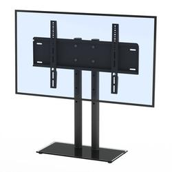 Universal TV Stand - Table Top TV Stand with Mount for 32-65 Inch Flat Screen TVs, TV Mount Stand with Tempered Glass Base, TV Base Stand Holds up to 110 lbs, Max VESA 400x600mm