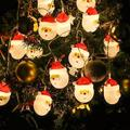 Christmas String Lights, Waterproof 10 LEDs 5ft LED Santa Snowman String Lights DIY Lights Decorations for Indoor Outdoor Decor Home Garden Wedding Party Xmas Tree