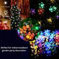 Christmas Solar Lights Led String Lights,22.96ft 50 LED Waterproof Fairy String Lights Blossom Flower for Indoor/Outdoor,Patio,Lawn,Garden,Christmas,and Holiday Festivals Light (Multi Color)-4 pack