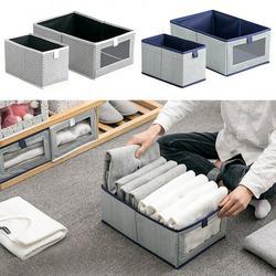 CUH Foldable Storage Bins Rectangle Storage Basket, Sturdy Storage Basket ,Decorative Storage Boxes, Fabric Closet Storage Bins Box for Home