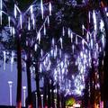 ACOUTO 30cm/50cm Waterproof SMD2835 LED String Lights 8 Tube Christmas Holiday Outdoor Decor US Plug 110‑240V,Light Tubes Decor,Holiday Light Tubes