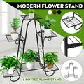 Classical European Style 4 Tier/6 Tier Iron Plant Stand & Flower Stand Shelf Stainless Steel Flower Pot Display Stand For Balcony Patio Indoor Outdoor Decor