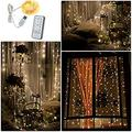 LED Curtain String Lights,300LED Window Curtain String Light,8 Modes LED String Lights USB Powered with Remote Control,Icicle Fairy Twinkle Lights for Wedding,Halloween,Christmas,Thanksgiving Decor