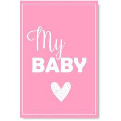 Awkward Styles My Baby Poster Wall Art Kids Room Wall Decor Pink Poster Baby Room Decor Gifts for Kids Baby Girl Room Printed Art Picture Mother Quotes Decor Girls Play Room Wall Decor Pink Poster