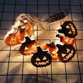 Hanging Halloween Skull Bone Light String Decoration Light, Pumpkin Light Chain, 20 LED Light Chain, Christmas Holiday Party Decoration (Pumpkin Hat)