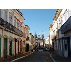 Tourism So Joo Del Rey Minas Historic City Street-20 Inch By 30 Inch Laminated Poster With Bright Colors And Vivid Imagery-Fits Perfectly In Many Attractive Frames
