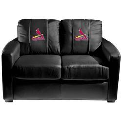 St. Louis Cardinals MLB Silver Love Seat