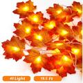 6M LED Maple Leaf String Lights with 40 LED, Battery Operated, Indoor Outdoor Fairy Lights, Fall Garland String Lights Decorative Lights for Home Patio Party Thanksgiving Christmas