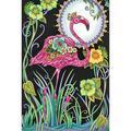 Chinatera Mosaic Rhinestone DIY Pink Bird Full Round Drill Diamond Painting Poster