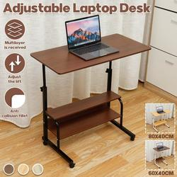 Adjustable Height Laptop Table Side Sofa Table Free Standing End Table Laptop Desk PC Computer Desk Snack Table Couch Tray Side Table