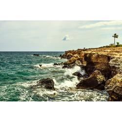 Sea Rocky Coast Shore Nature Landscape Waves-12 Inch By 18 Inch Laminated Poster With Bright Colors And Vivid Imagery-Fits Perfectly In Many Attractive Frames