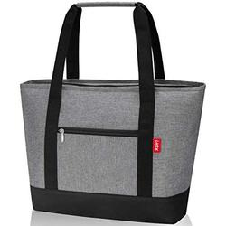 LHZK Insulated Cooler Bag 28L ( 30-Can ), Reusable Grocery Bag Transport Cold or Hot Food, Collapsible Insulated Tote Bag, Beach Bag, Travel Cooler or Picnic Cooler (Large, Gray)
