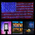 Upgraded American Flag Lights Outdoor, 390 LED Super Bright USA Flag String Lights, Waterproof Patriotic Lights for Independence Day, National Day, Memorial Day, Christmas, New Year Decor
