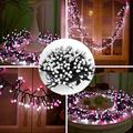 LED Fairy String Lights 3M 9.84FT 400LEDs, 8 Lighting Modes Christmas Globe Lights Outdoor Indoor Decorating Xmas LED Lighting for Home Party Holiday (Pink + White)