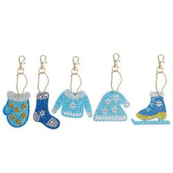 Tomshine DIY Diamond Painting Pendant Christmas Decorations Handmade Clothing-shaped Pendant Full Drill Special Shape Diamond Painting Ornaments for Home Christmas Party Decor