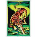 Crouching Tiger Flocked Blacklight Poster 23-by-35 Inches, STANDARD SIZE: 23-by-35 Inches (58.42 x 88.9 cm) By Visit the Scorpio Posters Store