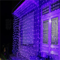 9.8ftx9.8ft LED Curtain Lights,300LED Window Curtain String Light Starry Christmas String Light Icicle Fairy Light Decorative Lighting for Wedding Party Garden Room Outdoor Indoor